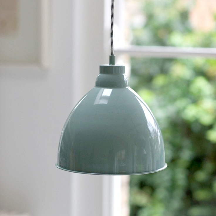 Harrow pendant light - shutter blue - £65 - Willow and Stone