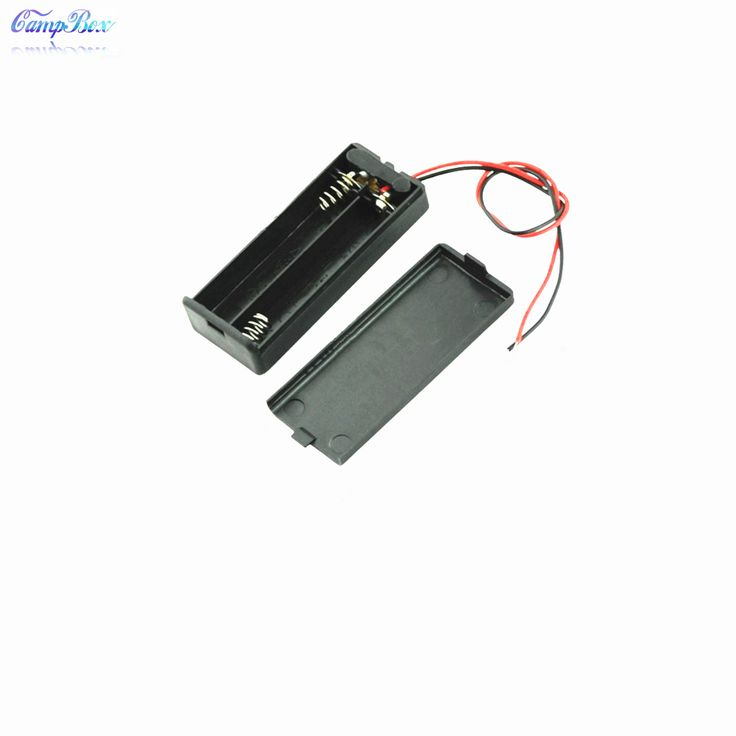 50Pcs 2 AAA Battery Case Holder Box Base Socket With Wires,Switch and Cover, AAA Battery Holder