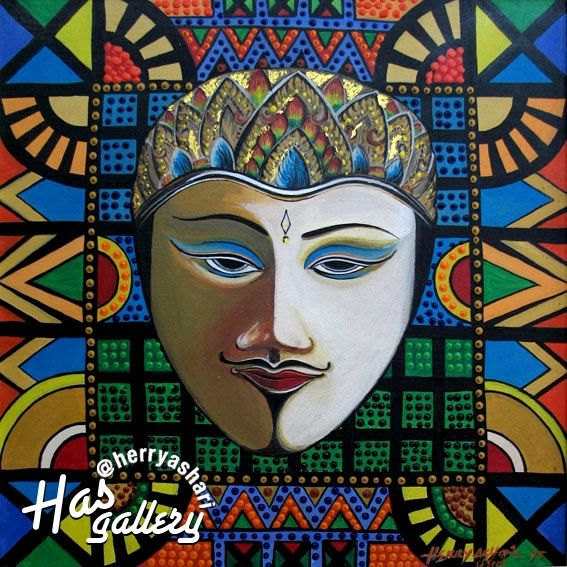 """Arjuna"" Artis : Herry ashari Material on Canvas- acrylic size : 50x50cm"