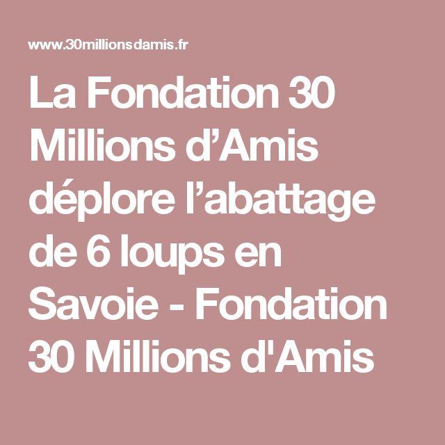 La Fondation 30 Millions d'Amis déplore l'abattage de 6 loups en Savoie - Fondation 30 Millions d'Amis