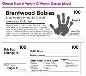 Custom Nursery Labels for Churches