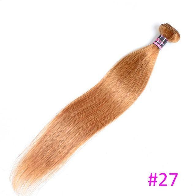 Brazilian Straight Hair Weave Bundles 8″-30″ Non Remy Human Hair 3 Bundles Deal