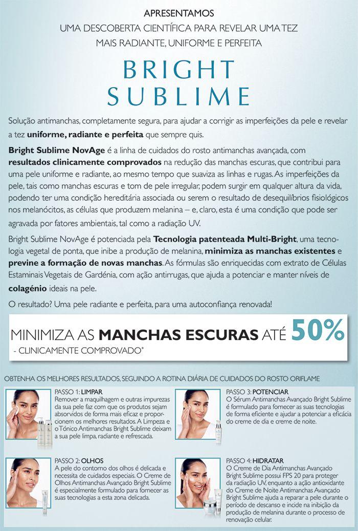 Bright Sublime NovAge | Oriflame Cosméticos