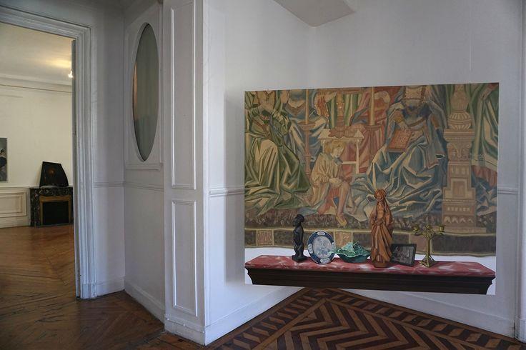 """Réplica"" de Gloria Martín en #CasaLeibniz II Palacio de Santa Bárbara #Madrid GaleríaArte #Art #ArteContemporáneo #ContemporaryArt #ArteEspañol #FeriaDeArte #ArtFair #Arterecord 2016 https://twitter.com/arterecord"