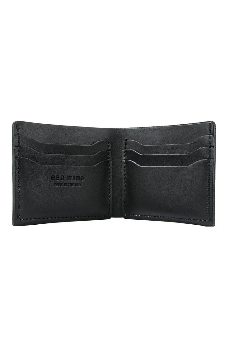Red Wing Shoes® - Classic Bifold Wallet Black Frontier Leather (95018)