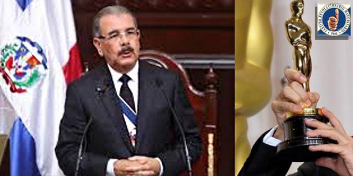 PRM dice discurso rendición de cuentas de Medina es fantasioso y demagógico; cree ganaría nominación Oscar como 'mejor actor'
