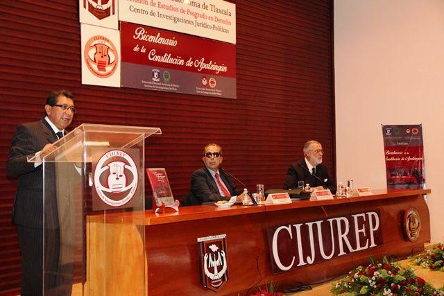 Presentó Cijurep de la UAT  el libro La Constitución de Apatzingán            Esta Edición crítica es producto del convenio de coedición entre el Cijurep de la UAT y el IIJ de la UNAM
