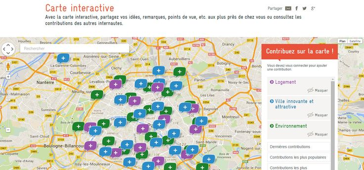 Modification du Plan local d'urbanisme de Paris - Donnez votre avis (Carte interactive)
