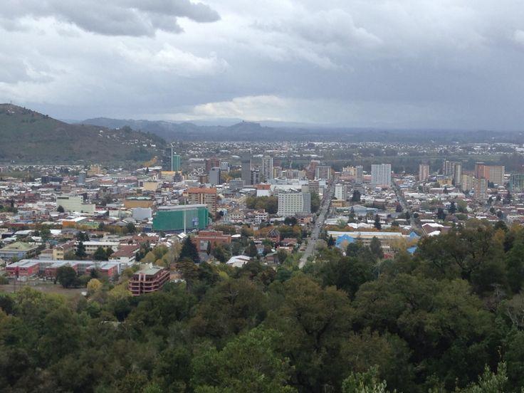 Una parte de Temuco, vista desde el Cerro Ñielol. #Araucanía