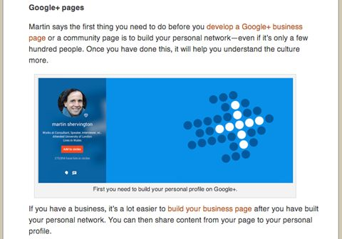 "social media examiner martin shervington google plus article > ""Essential Google+ Marketing Resource: A Complete Guide""  by Martin Shervington courtesy of Lisa D. Jenkins on Social Media Examiner (June 12, 2014)"