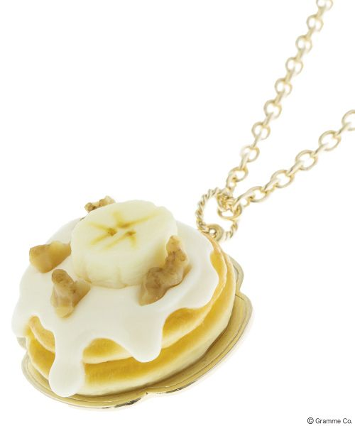 Maple Cream Banana Pancake Necklace