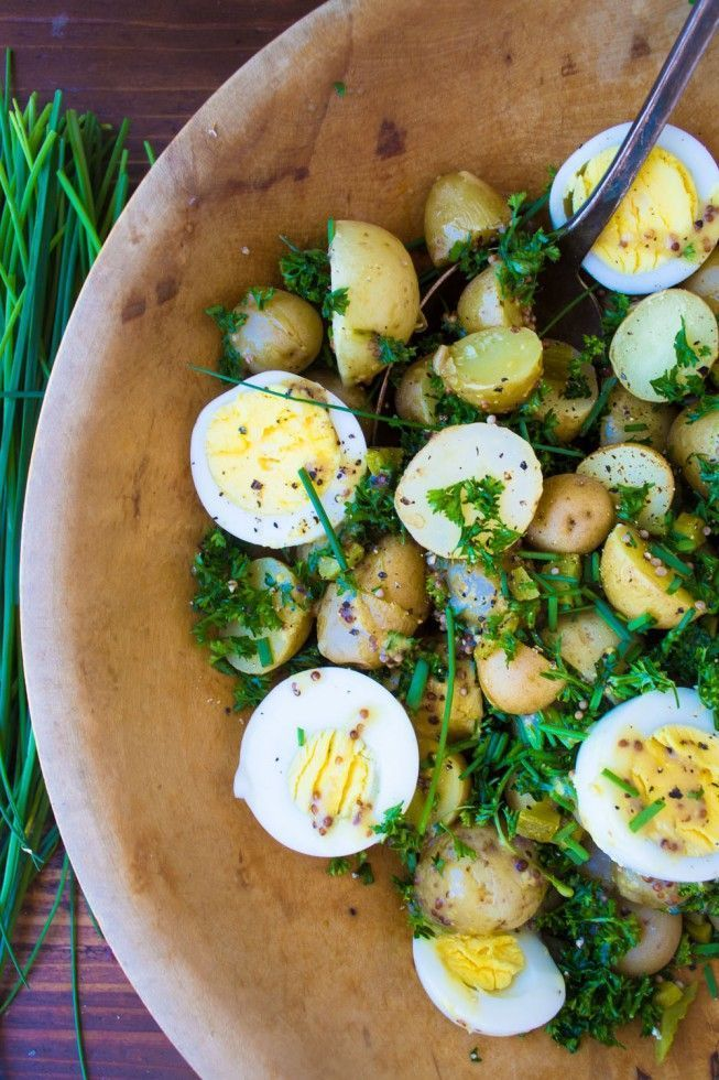 Egg and New Potato Salad is PERFECTION with hamburgers and hotdogs on the grill, but I swear I make a meal out of it all by itself!