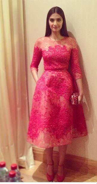 Sonam Kapoor at the Cannes Gala Dinner |