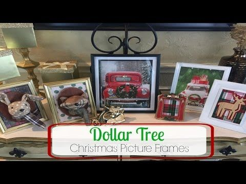 DOLLAR TREE DIY | Christmas Picture Frames - YouTube