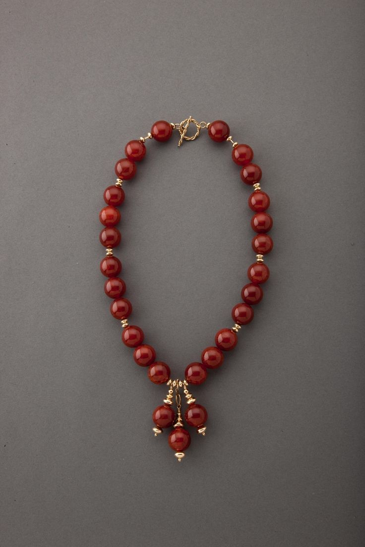 "Contemporary Jewelry - ""Fire Agate Richness"" (Original Art from The Carol Canter Collection)"
