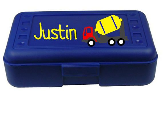 Back to School Tractor Personalized Pencil Box Many colors