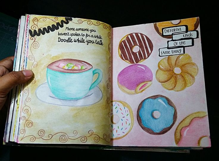 """Anti Journal """"Different kinds of the same thing"""" #AntiJournal #ArtJournal"""