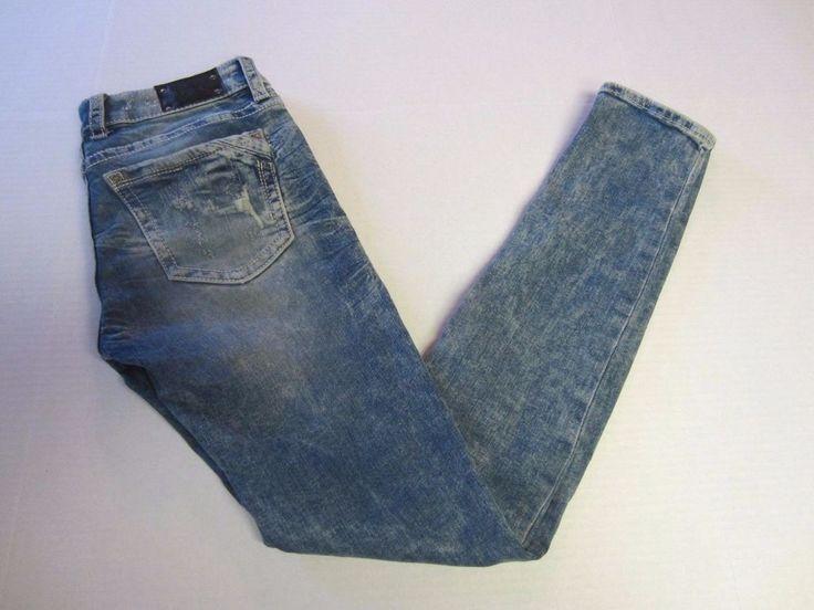 Buckle Black Jeans 27 x 34 Skinny Blue Factory Distressed Fit No 53 #BuckleBlack #Skinny