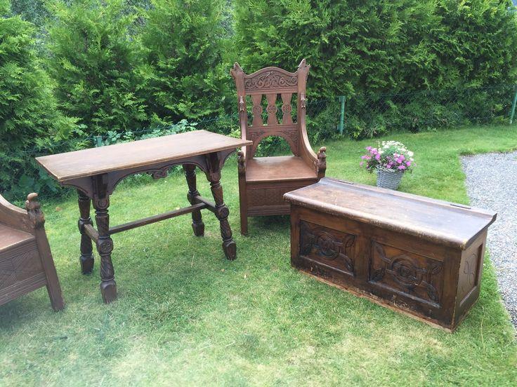 FINN – Dragestoler, bord og benk.