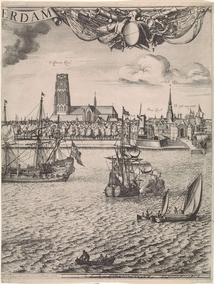 Panorama van Rotterdam, Jan Houwens (I), Jacob Quack, Jacob Quack, 1665