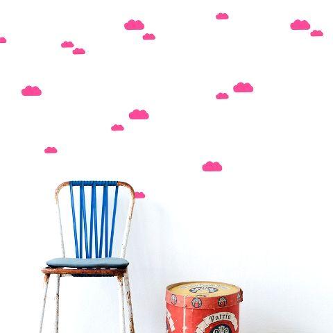 sticker ferm living nuages roses