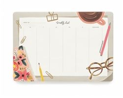 Rifle Paper Co. Desktop Weekly Deskpads available to pre-order now at Northlight Homestore