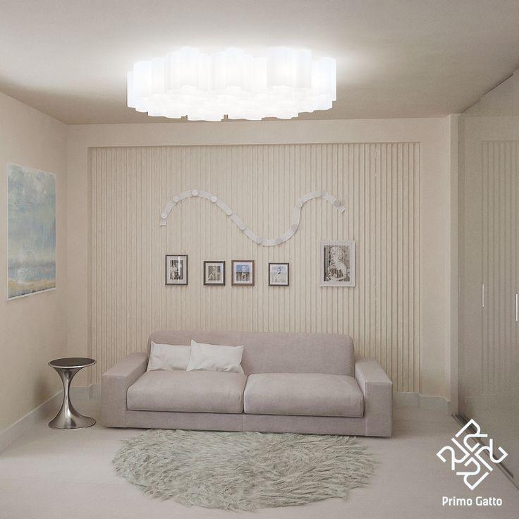 Наш дизайн-проект гостевой комнаты выполнен в спокойных кремовых оттенках. По бокам от телевизора симметрично располагаются два зеркала fiam. Потолочные светильники artemida мягко освещают пространство комнаты. Рабочее место размещено возле окна. Стол современного дизайна от фабрики cattelan отлично вписывается в общую концепцию дизайна комнаты. Дверцы шкафа решены в глянцевом бежевом стекле, что добавляет мягкому интерьеру чуть больше легкости и звонкости.