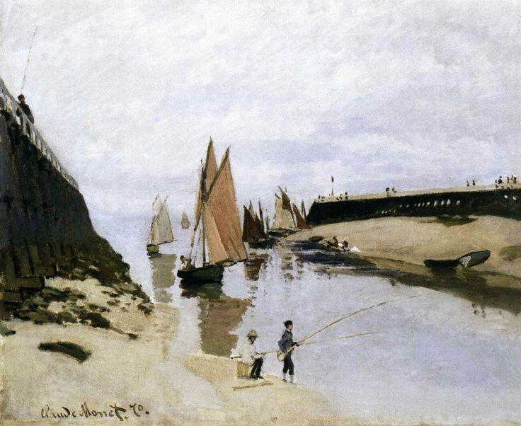 Landing Stage at Trouville, Low Tide 1870 Oil on canvas, 54 x 67 cm Szépmûvészeti Múzeum, Budapest