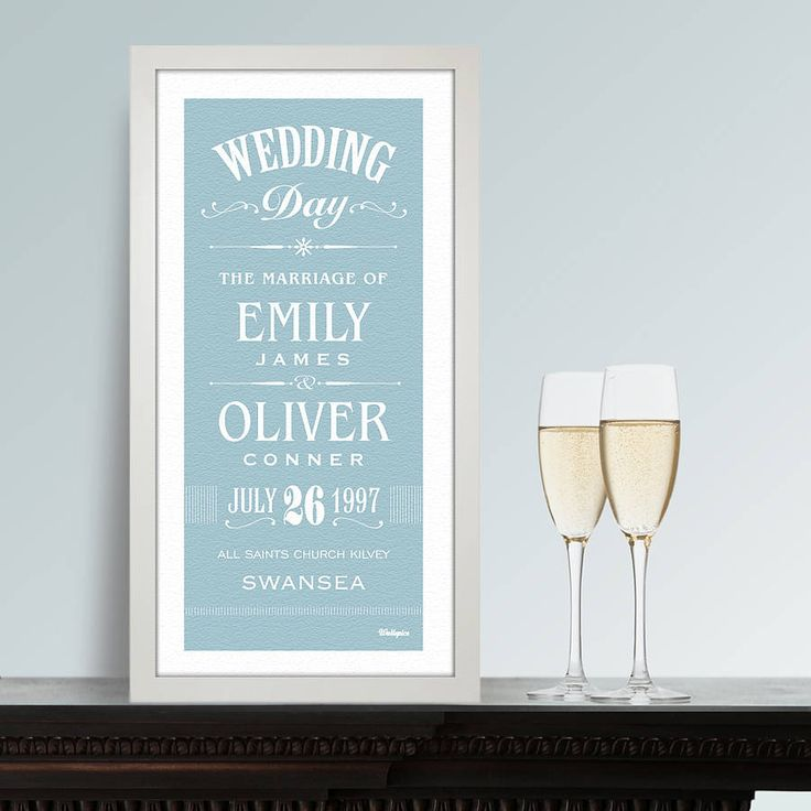 personalised wedding print by wallspice | notonthehighstreet.com