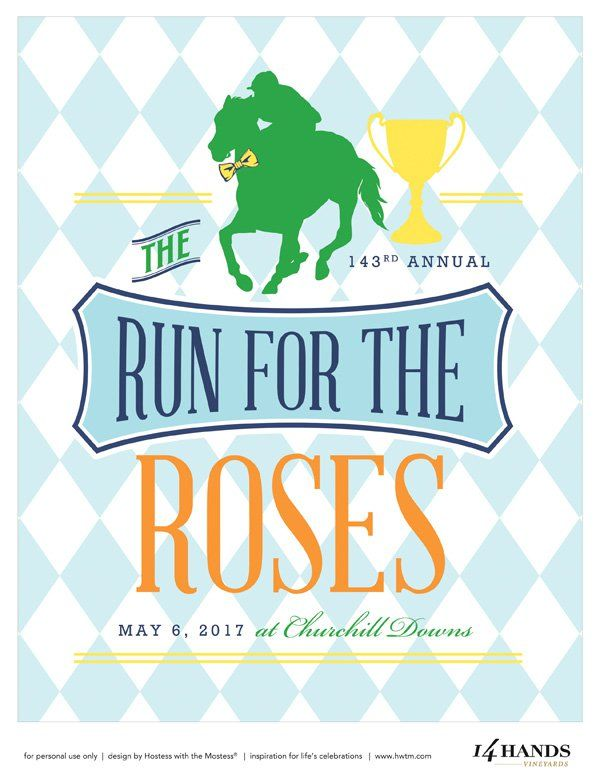 "FREE 2017 Kentucky Derby Party Printables – ""Preppy Paddock"""