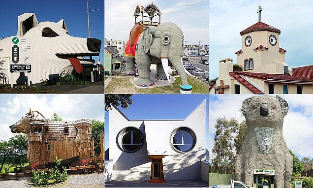 Pet-lovers can visit hotels, churches and museums resembling dogs, cats and even elephants as imaginative architects have been creating animal-shaped buildings across the globe.