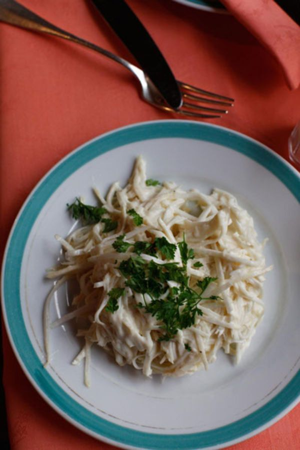 In this classic bistro salad julienned celery root melds with a Dijon mustard-spiked dressing.