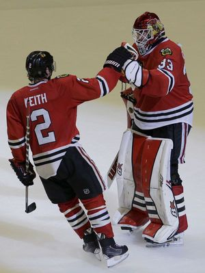 NHL playoff scores 2015: Tensions mount as Blackhawks, Islanders take series ... Blackhawks #Blackhawks