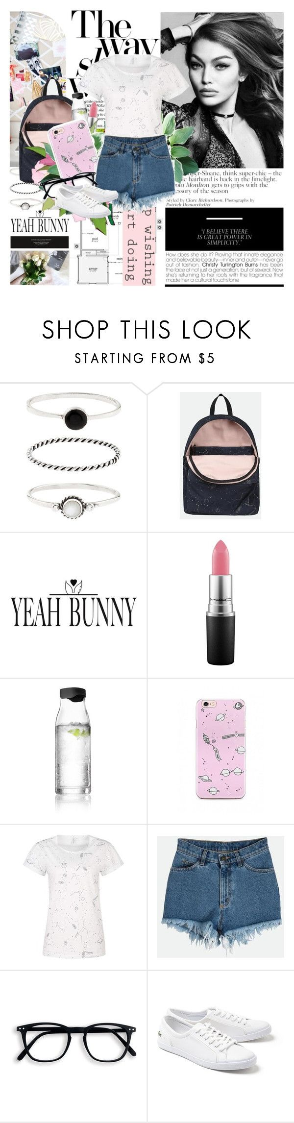 """Gigi Hadid"" by mars ❤ liked on Polyvore featuring Accessorize, Yeah Bunny, MAC Cosmetics, Menu and Lacoste"
