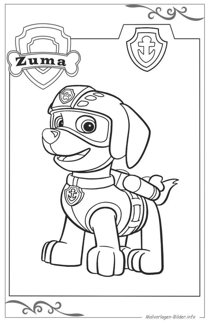 paw patrol ausmalbild für kinder zum gratis download