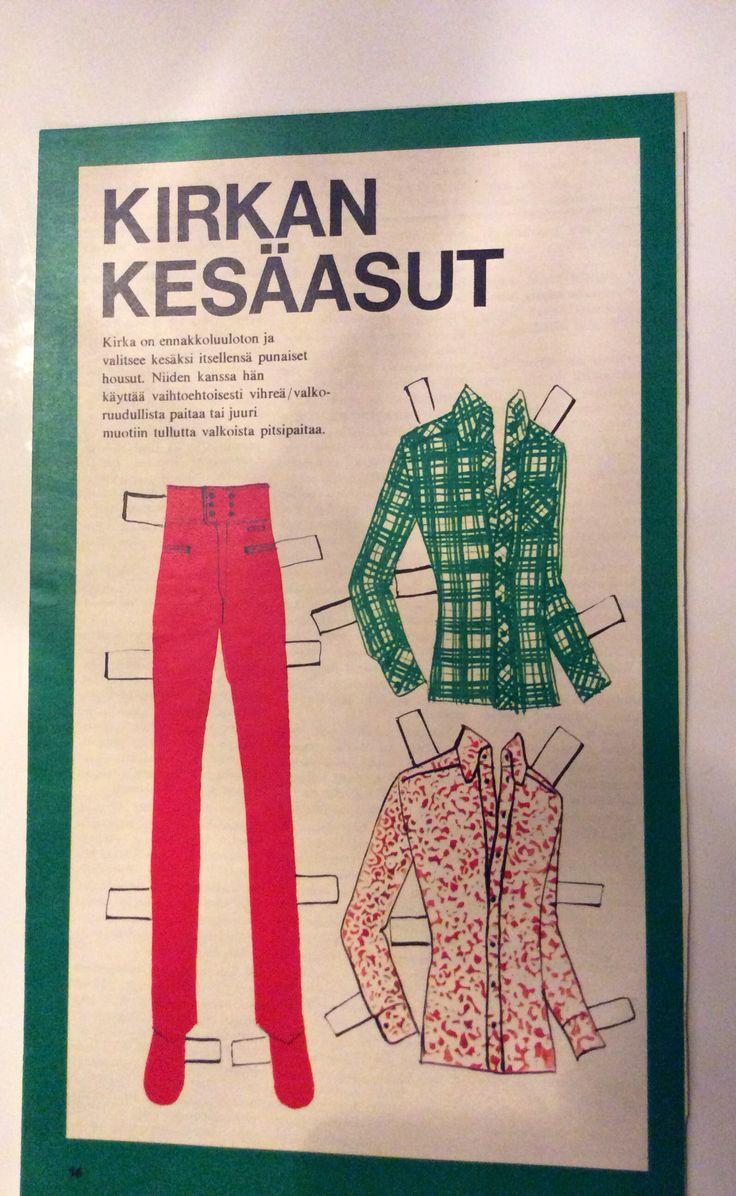 Paperdoll Kirka clothes 1969