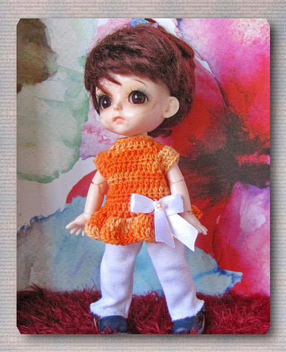 FREE SHIPPING crocheted dresses and dolls bjd / 1/8 dolls Lati
