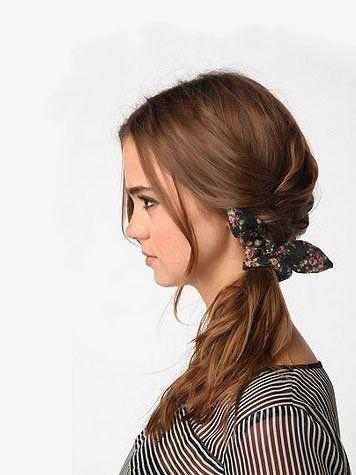 Summer Hair Ideas: French Braids, Urban Outfitters, Bows Scrunchi, Summer Hair, Hair Ties, Hair Style, Floral Bows, Fishtail Braids, Flowers Girls Hairstyles