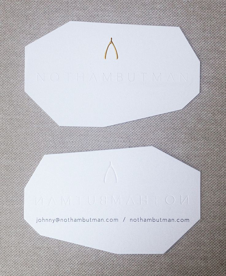 Business card, logo and website for www.nothambutman.com