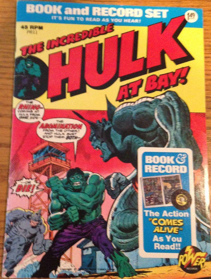 """Incredible HULK Power Record """" At Bay"""" 45RPM PR11 1974"""
