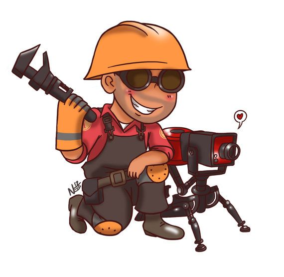 Engineer from Team Fortress 2 Magnet