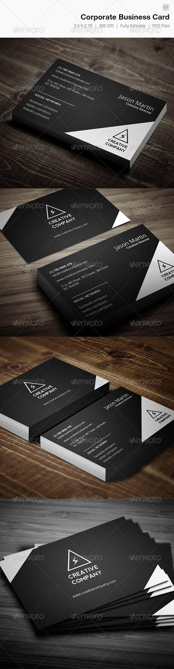 Corporate Business Card 07 Corporate Business Card Business Cards Business Card Design