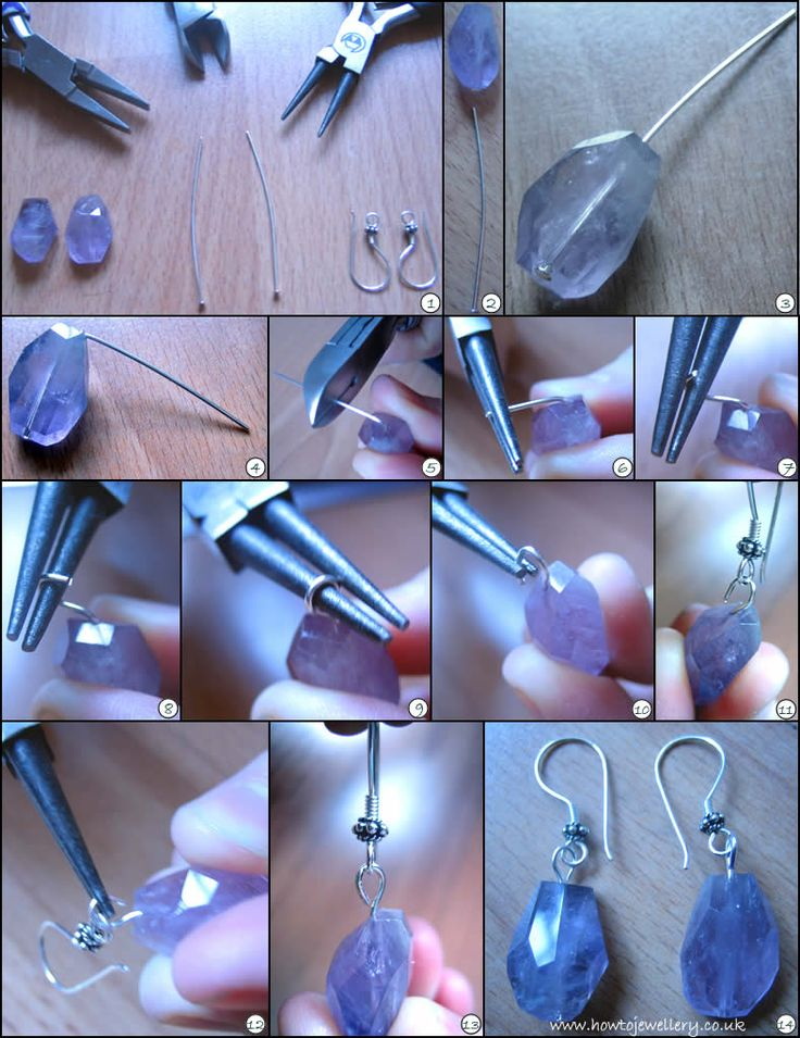 How to turn a loop on a headpin and make a pair of earrings