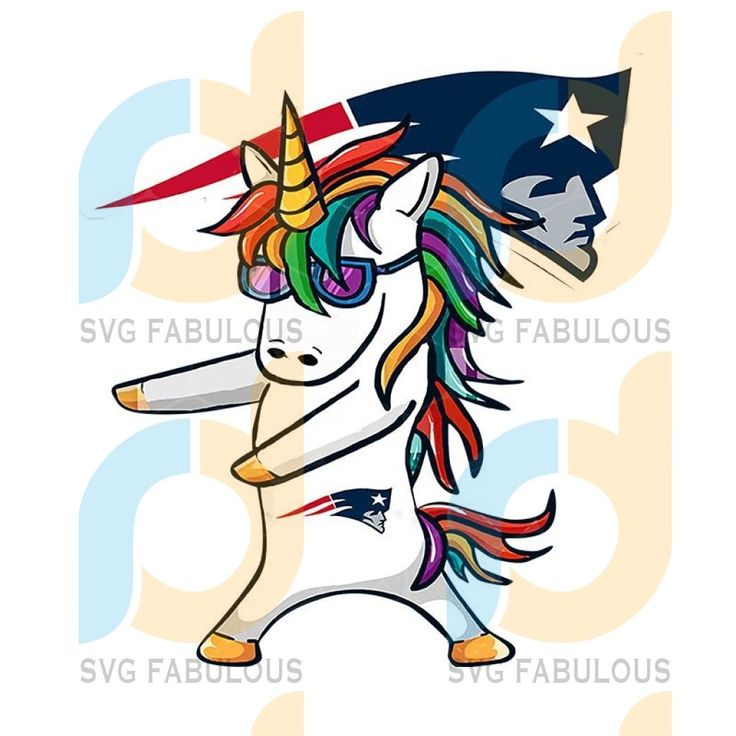 PATRIOTS UNICORN PNG CLIPART ILLUSTRATION, New England