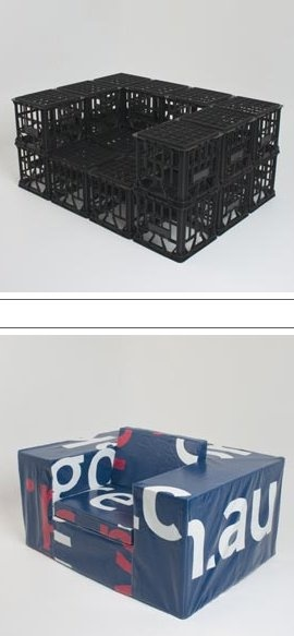 Milk crate madness chair