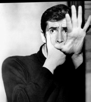 """Psycho"". Anthony Perkins as Norman Bates."
