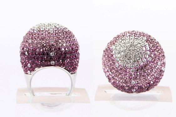 Crystal Ball Ring Lilac