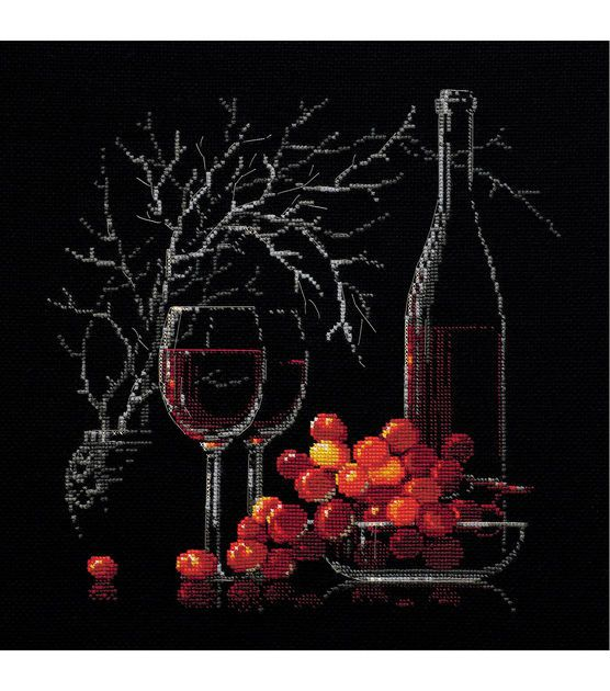"Still Life With Red Wine Counted Cross Stitch Kit-11.75""X11.75"" 14 Count"