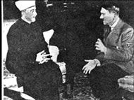 Amin Al Husseini spends WWII by Hitler's side.
