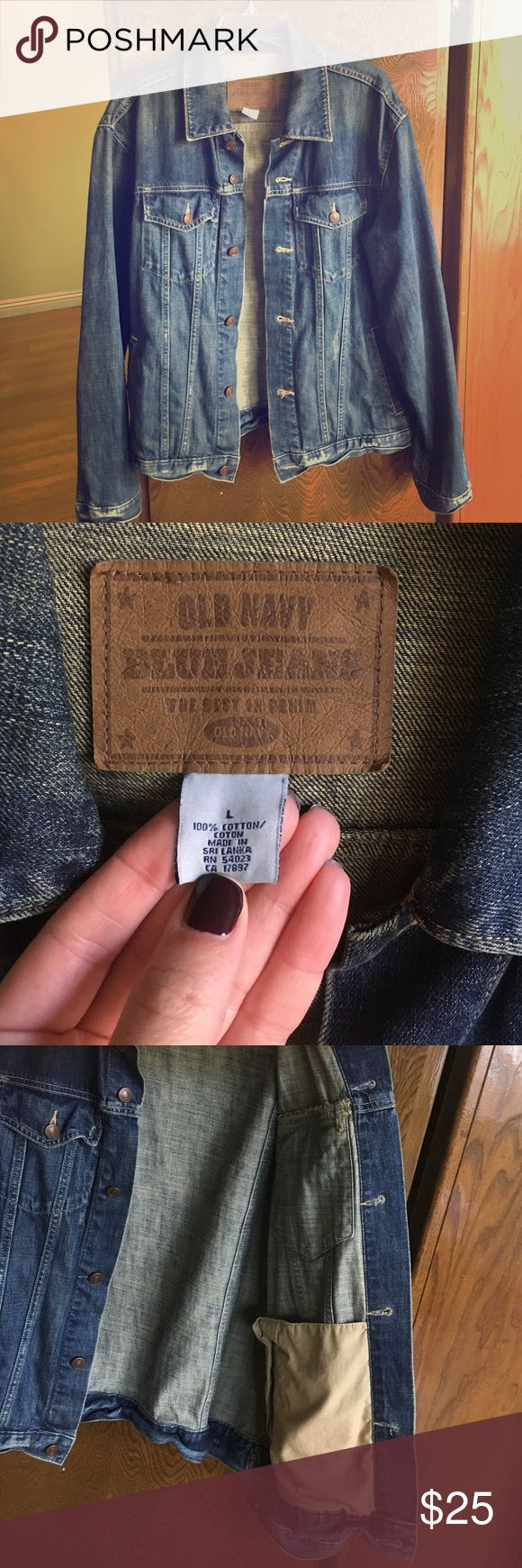 Men'S Jean Jacket! Old Navy Jean Jacket men's size large. Good condition looks great. Lemme know if you have any questions. Vintage. Old Navy Jackets & Coats Jean Jackets